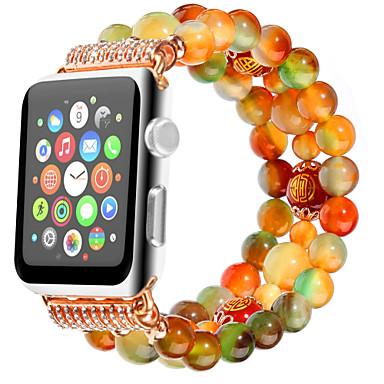 Недорогие Аксессуары для смарт-часов-Натуральный ремешок из агата павлина для серии Apple Watch Smart Watch серии 4/3/2/1 браслет iwatch