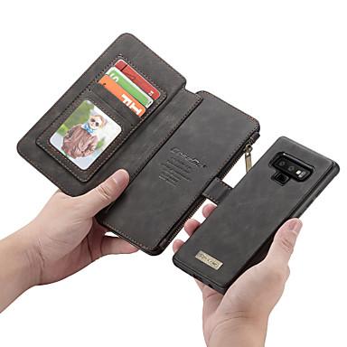 voordelige Galaxy Note-serie hoesjes / covers-CaseMe hoesje Voor Samsung Galaxy Note 9 / Note 8 Portemonnee / Kaarthouder / Flip Volledig hoesje Effen Hard PU-nahka voor Note 9 / Note 8 / Note 5
