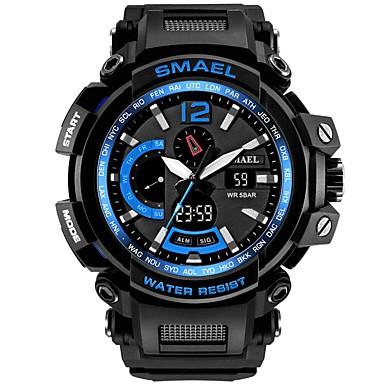 رخيصةأون ساعات الرجال-SMAEL رجالي ساعة رياضية ساعة رقمية ياباني كوارتز ياباني أسود 50 m مقاوم للماء رزنامه الكرونوغراف تناظري-رقمي كاجوال موضة - أسود أسود / أزرق / ساعة التوقف / قضية