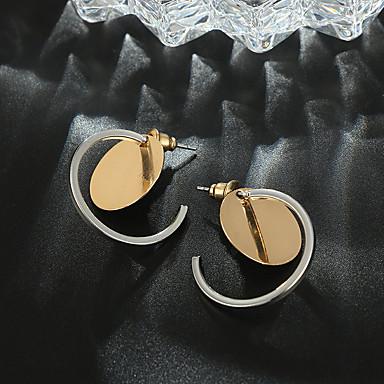Žene Okrugle naušnice Retro dame Jednostavan Moda Naušnice Jewelry Zlato Za Izlasci Rad 1 par