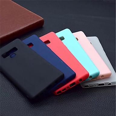 Недорогие Чехлы и кейсы для Galaxy Note-Кейс для Назначение SSamsung Galaxy Note 9 / Note 8 Матовое Кейс на заднюю панель Однотонный Мягкий ТПУ