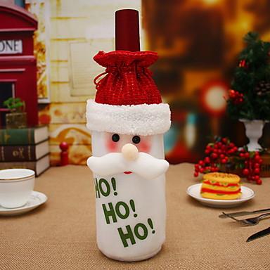 حقائب النبيذ وحمالاته عيد الميلاد المجيد / عطلة غير المنسوجة مستطيل حزب / حداثة زينة عيد الميلاد