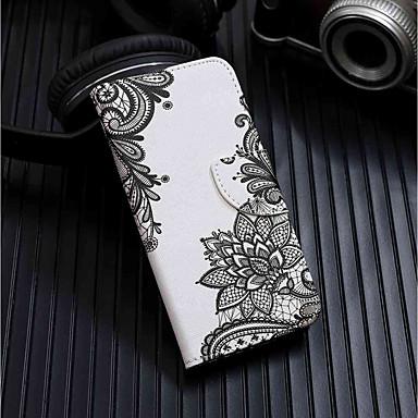 غطاء من أجل Xiaomi Redmi 6 محفظة / حامل البطاقات / مع حامل غطاء كامل للجسم زهور قاسي جلد PU إلى Redmi 6A / Redmi 6