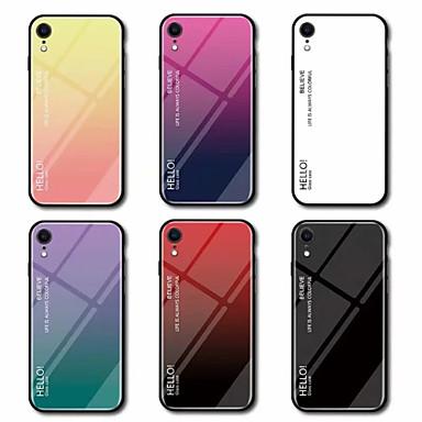 Θήκη Za Apple iPhone XS / iPhone XR / iPhone XS Max Zrcalo Stražnja maska Prijelaz boje Tvrdo Kaljeno staklo