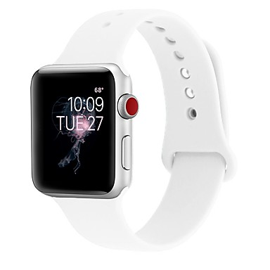 جل السيليكا حزام حزام إلى Apple Watch Series 4/3/2/1 أسود / الأبيض / أزرق 23CM / 9 بوصة 2.1cm / 0.83 Inches