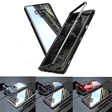 Недорогие Чехлы и кейсы для Galaxy Note-Кейс для Назначение SSamsung Galaxy Note 9 / Note 8 Полупрозрачный Чехол Однотонный Твердый Закаленное стекло