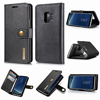 Χαμηλού Κόστους Θήκες / Καλύμματα Galaxy S Series-tok Για Samsung Galaxy S9 / S9 Plus / S8 Plus Πορτοφόλι / Θήκη καρτών / με βάση στήριξης Πλήρης Θήκη Μονόχρωμο Σκληρή γνήσιο δέρμα