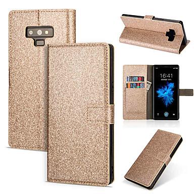 Θήκη Za Samsung Galaxy Note 9 / Note 8 Novčanik / Utor za kartice / sa stalkom Korice Jednobojni / Šljokice Tvrdo PU koža