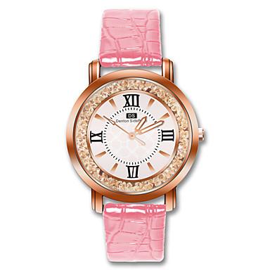 Žene Ručni satovi s mehanizmom za navijanje Diamond Watch Kvarc Umjetna koža Crna / Bijela / Crvena Casual sat Analog dame Moda - Braon Crvena Pink