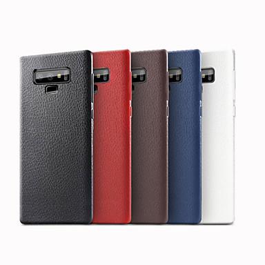Недорогие Чехлы и кейсы для Galaxy Note-Кейс для Назначение SSamsung Galaxy Note 9 Матовое Кейс на заднюю панель Однотонный Мягкий Кожа PU