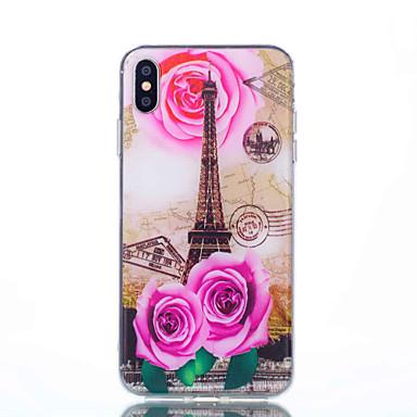 Θήκη Za Apple iPhone XS / iPhone XR / iPhone XS Max Uzorak Stražnja maska Krajolik / Eiffelov toranj Mekano TPU