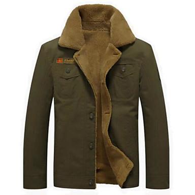 Muškarci Izlasci Proljeće & Jesen Normalne dužine Jakna, Color block Preklapajućih Collar Dugih rukava Poliester Crn / Vojska Green / Žutomrk