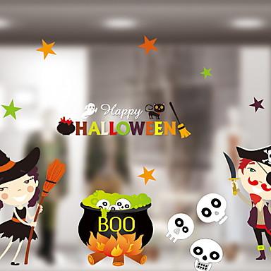 فيلم نافذة وملصقات زخرفة Halloween بسيط / عطلة PVC كوول