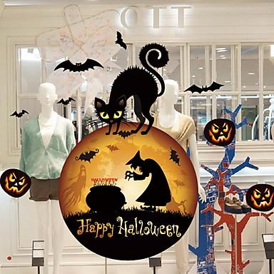 فيلم نافذة وملصقات زخرفة Halloween هندسي / عطلة PVC كوول