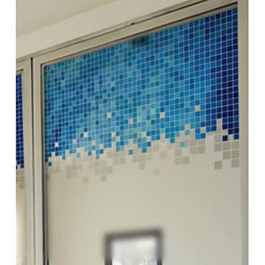 فيلم نافذة وملصقات زخرفة العادي هندسي PVC لون متغاير