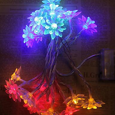 1.2m Žice sa svjetlima 10 LED diode Toplo bijelo / Bijela / Više boja New Design / Ukrasno / Cool AA baterije su pogonjene