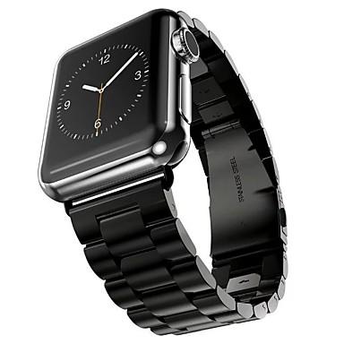 olcso Karóra tartozékok-Rozsdamentes acél Nézd Band Szíj mert Apple Watch Series 4/3/2/1 Fekete / Ezüst / Arany 23cm / 9 inch 2.1cm / 0.83 Hüvelyk