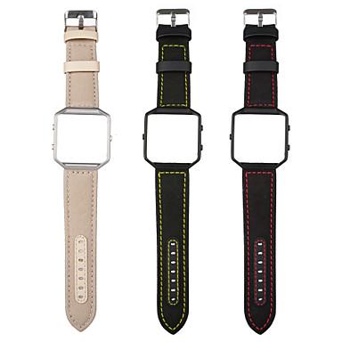 حزام إلى Fitbit Blaze فيتبيت عقدة جلدية جلد طبيعي شريط المعصم