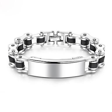 Muškarci Gipke i čvrste narukvice Debeli lanac Europska Moda Titanium Steel Narukvica Nakit Hladno bijela Za Dnevno / Platinum Plated