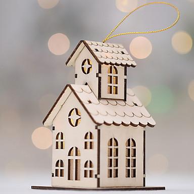 Božićni ukrasi Predbožićna drven Kvadrat Noviteti Božićni ukras