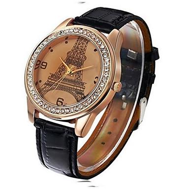 نسائي الزوجين ساعة رياضية كوارتز جلد أسود / الأبيض / أزرق جميل ساعة كاجوال مماثل كاجوال كرتون - كوفي أحمر أزرق