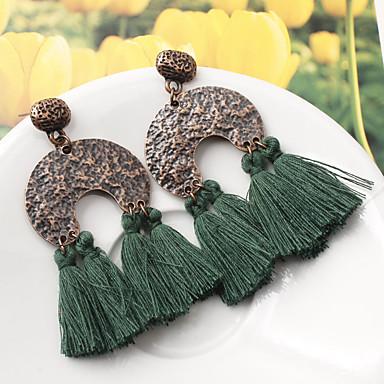 Žene Viseće naušnice Rese Kreativan dame Vintage Europska Moda Naušnice Jewelry Pink / Lila-roza / Tamno zelena Za Party Dnevno 1 par