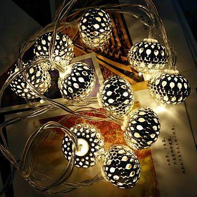 1.5m Žice sa svjetlima 10 LED diode Toplo bijelo Ukrasno / Cool 220-240 V