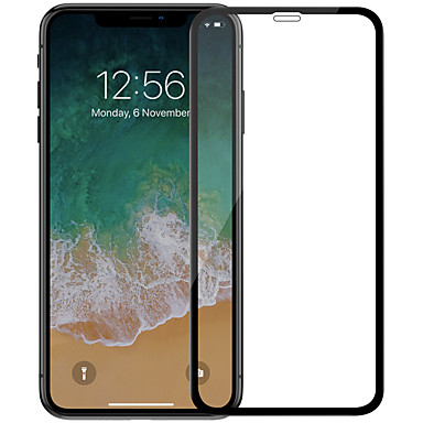 voordelige iPhone screenprotectors -AppleScreen ProtectoriPhone XS Max High-Definition (HD) Volledige behuizing screenprotector 1 stuks Gehard Glas