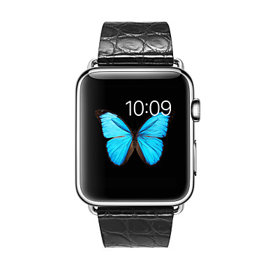 Horlogeband voor Apple Watch Series 4/3/2/1 Apple Leren lus Leer / Echt leer Polsband