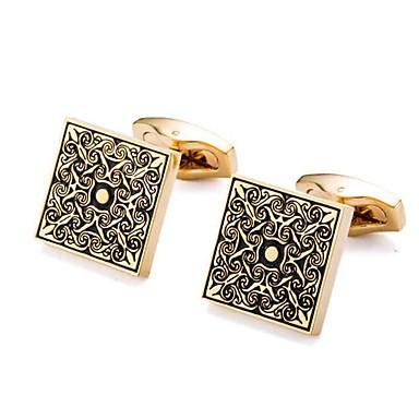 أزرار أكمام وردة كلاسيكي بروش مجوهرات ذهبي من أجل مناسب للبس اليومي رسمي