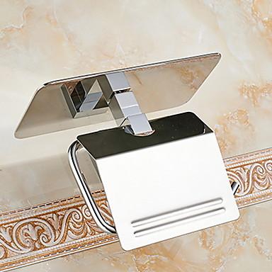 Držač toaletnog papira New Design / Multifunkcionalni Moderna Nehrđajući čelik / željezo 1pc Zidne slavine