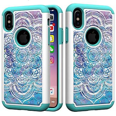 Недорогие Кейсы для iPhone 7 Plus-Кейс для Назначение Apple iPhone XS / iPhone XR / iPhone XS Max Защита от удара / Стразы Кейс на заднюю панель Ловец снов / Стразы / Цветы Твердый ПК