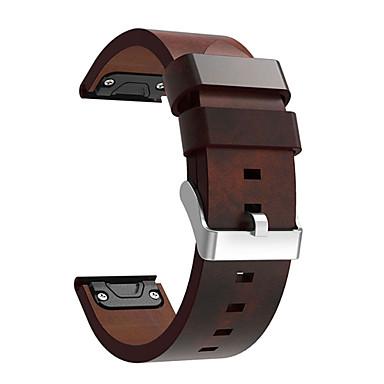 Недорогие Аксессуары для смарт-часов-Ремешок для часов для Fenix 5 / Fenix 5 Plus Garmin Кожаный ремешок Натуральная кожа Повязка на запястье