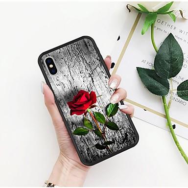 voordelige iPhone 5 hoesjes-hoesje Voor Apple iPhone X / iPhone 8 Plus / iPhone 8 Patroon Achterkant Bloem Hard TPU