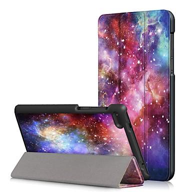 Недорогие Чехлы и кейсы для Lenovo-Кейс для Назначение Lenovo Lenovo Tab 7 Essential / Lenovo Tab 4 7 Essential Защита от пыли / Флип / Авто Режим сна / Пробуждение Чехол Мультипликация Твердый Кожа PU