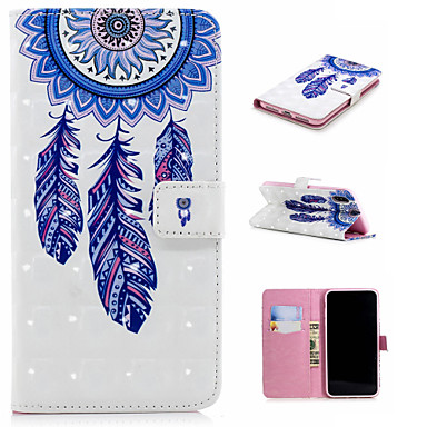 Недорогие Кейсы для iPhone 6-Кейс для Назначение Apple iPhone XS / iPhone XR / iPhone XS Max Кошелек / Бумажник для карт / со стендом Чехол Ловец снов / Цветы Твердый Кожа PU