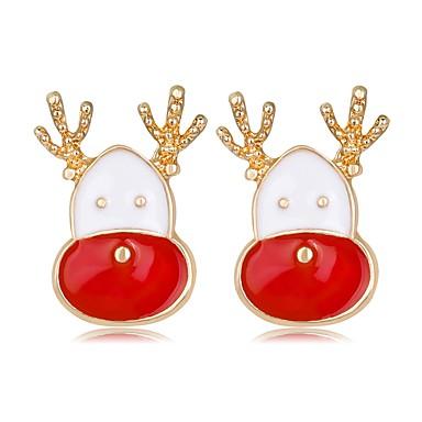 Žene Sitne naušnice 3D Los dame Klasik Moda Umjetno drago kamenje Naušnice Jewelry Duga Za Božić Nova Godina 1 par