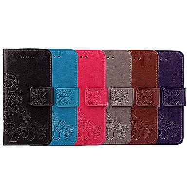 Недорогие Чехлы и кейсы для Sony-Кейс для Назначение Sony Sony Xperia XA1 Бумажник для карт / Флип Чехол Мандала / Однотонный Мягкий Кожа PU