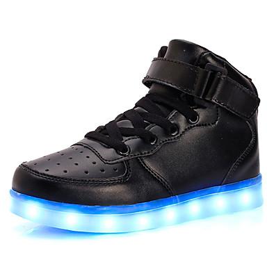 povoljno Beba & Djeca-Djevojčice Svjetleće tenisice PU Sneakers Dijete (9m-4ys) / Mala djeca (4-7s) / Velika djeca (7 godina +) Vezanje / Mat selotejp / LED Crvena / Plava / Pink Proljeće / Guma