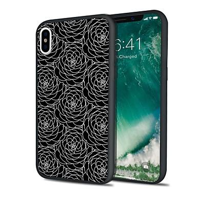 voordelige iPhone 5 hoesjes-hoesje Voor Apple iPhone X / iPhone 8 Plus / iPhone 8 Mat Achterkant Cartoon / Lace Printing / Bloem Hard TPU