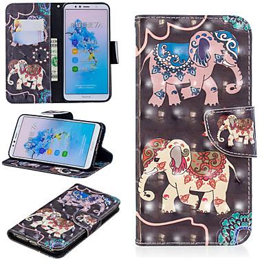voordelige Huawei Mate hoesjes / covers-hoesje Voor Huawei Huawei Nova 3i / Huawei P Smart Plus / Honor 7A Portemonnee / Kaarthouder / met standaard Volledig hoesje Olifant Hard PU-nahka