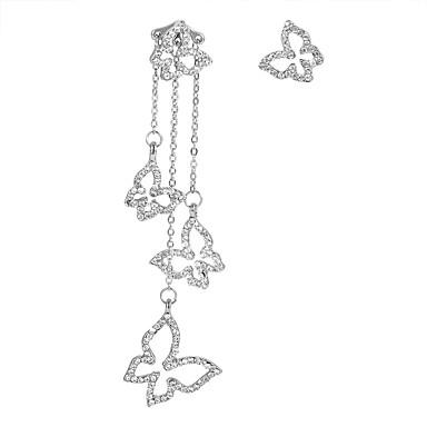Žene neprilagođeno Viseće naušnice - Umjetno drago kamenje Rukav leptir dame Europska Moda Elegantno Jewelry Zlato / Pink Za Party Rođendan 1 par