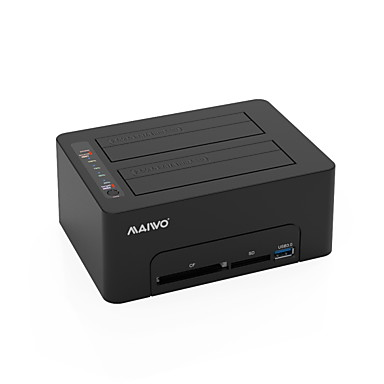MAIWO USB 3.0 do SATA 3.0 Priključna stanica za vanjski tvrdi disk Plug and play / Podrška izvanmrežna kopija / Sigurnosno kopiranje jednim dodirom 20000 GB K3082CR