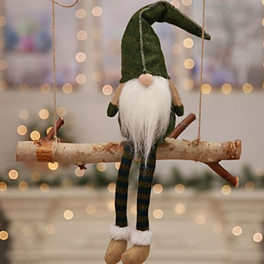 Odmor dekoracije Božićni ukrasi Božićne figurice Ukrasno / Lijep Sive boje / Crvena / Zelen 1pc