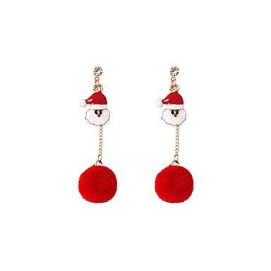 Žene fantazija Viseće naušnice Naušnice dame Jewelry Crvena Za Božić 1 par