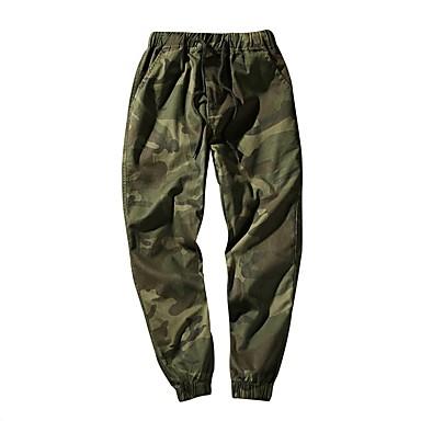 Muškarci Dnevno Širok kroj Sportske hlače Hlače - kamuflaža Pamuk Tamno siva Vojska Green Žutomrk XXXXXL XXXXXXL 8XL