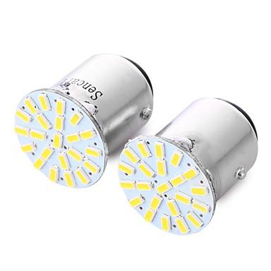 Недорогие Фары для мотоциклов-SENCART 2pcs BA15S (1156) / BAY15D (1157) / BAU15S Мотоцикл / Автомобиль Лампы 2 W SMD 3014 180 lm 22 Светодиодная лампа Лампа поворотного сигнала / Мотоцикл / Задний свет Назначение
