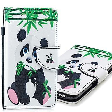 Kılıf Na Samsung Galaxy S9 / S9 Plus / S8 Plus Portfel / Etui na karty / Z podpórką Pełne etui Panda Twardość Skóra PU