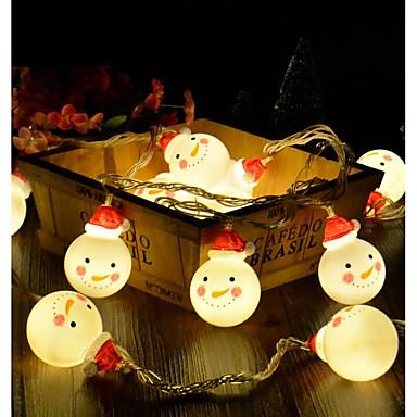 BRELONG® 1.2m Žice sa svjetlima 10 LED diode 2835 SMD Toplo bijelo / RGB / Bijela Kreativan / Party / Ukrasno AA baterije su pogonjene 1set