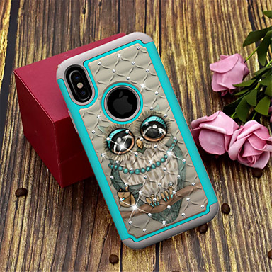 "economico Custodie per iPhone 6 Plus-Custodia Per Apple iPhone XS / iPhone XR / iPhone XS Max Traslucido / Fantasia / disegno Per retro Animali / Fantasia ""Gufo"" Resistente TPU / PC"
